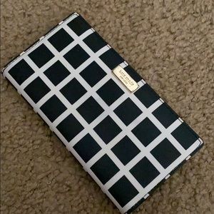 Kate spade checkered wallet
